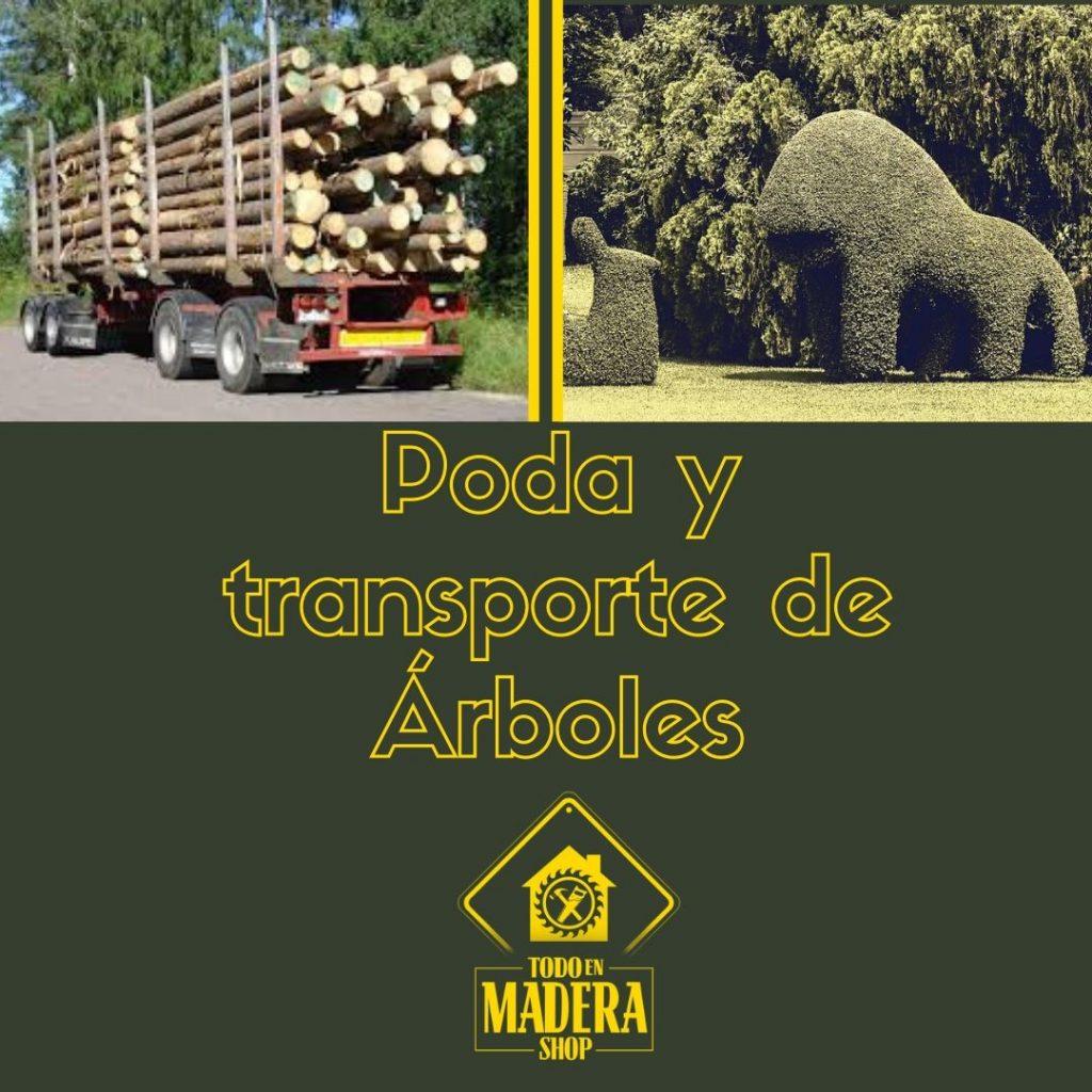 poda y transporte de madera
