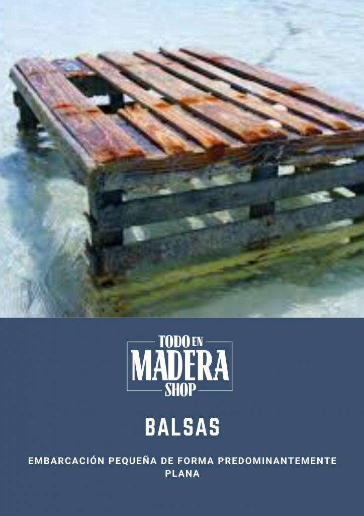 balsa-de-madera-poster-medios-de-transporte