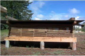 secado natural de madera