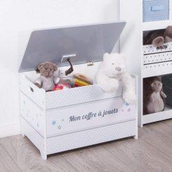 baul de madera para guardar juguetes