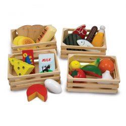 alimentos de juguete hecho de madera