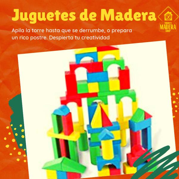 banner publicitario juguetes de madera