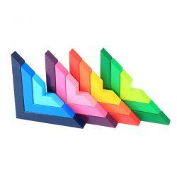 geometria-de-bloques-de-madera-color-arco-iris