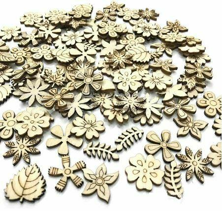 flores-y-hojas-de-madera-cortada-con-laser